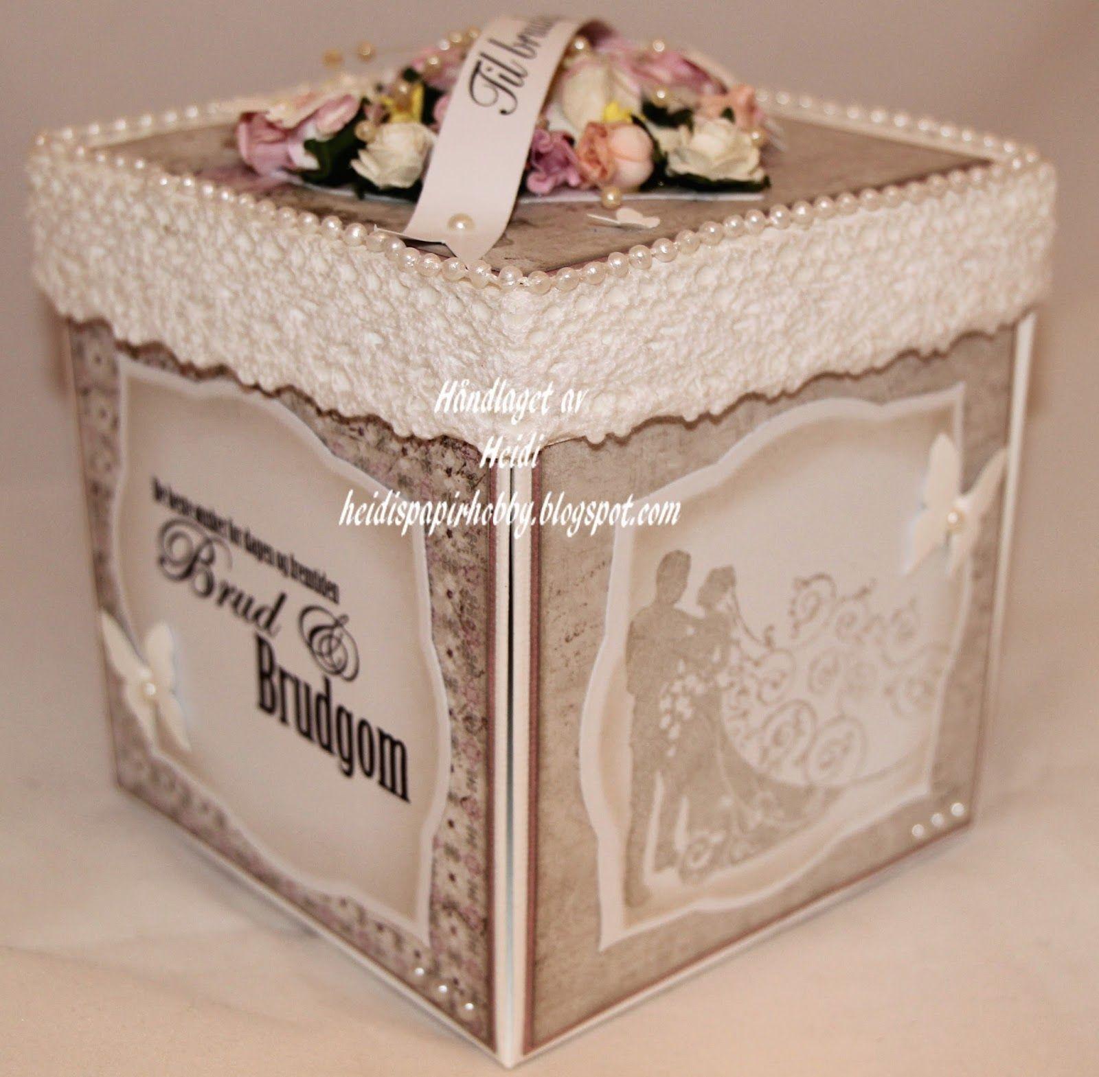 Heidis papirhobby: Eksplosjonsboks til bryllup