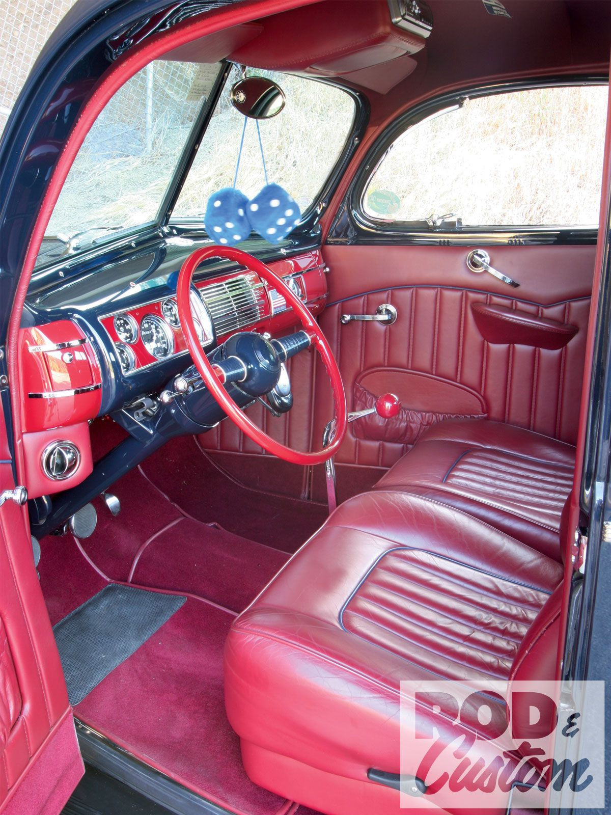 1940 Ford Deluxe Coupe Red Interior Photo 3 1940 Ford 1940 Ford Coupe Ford Interior