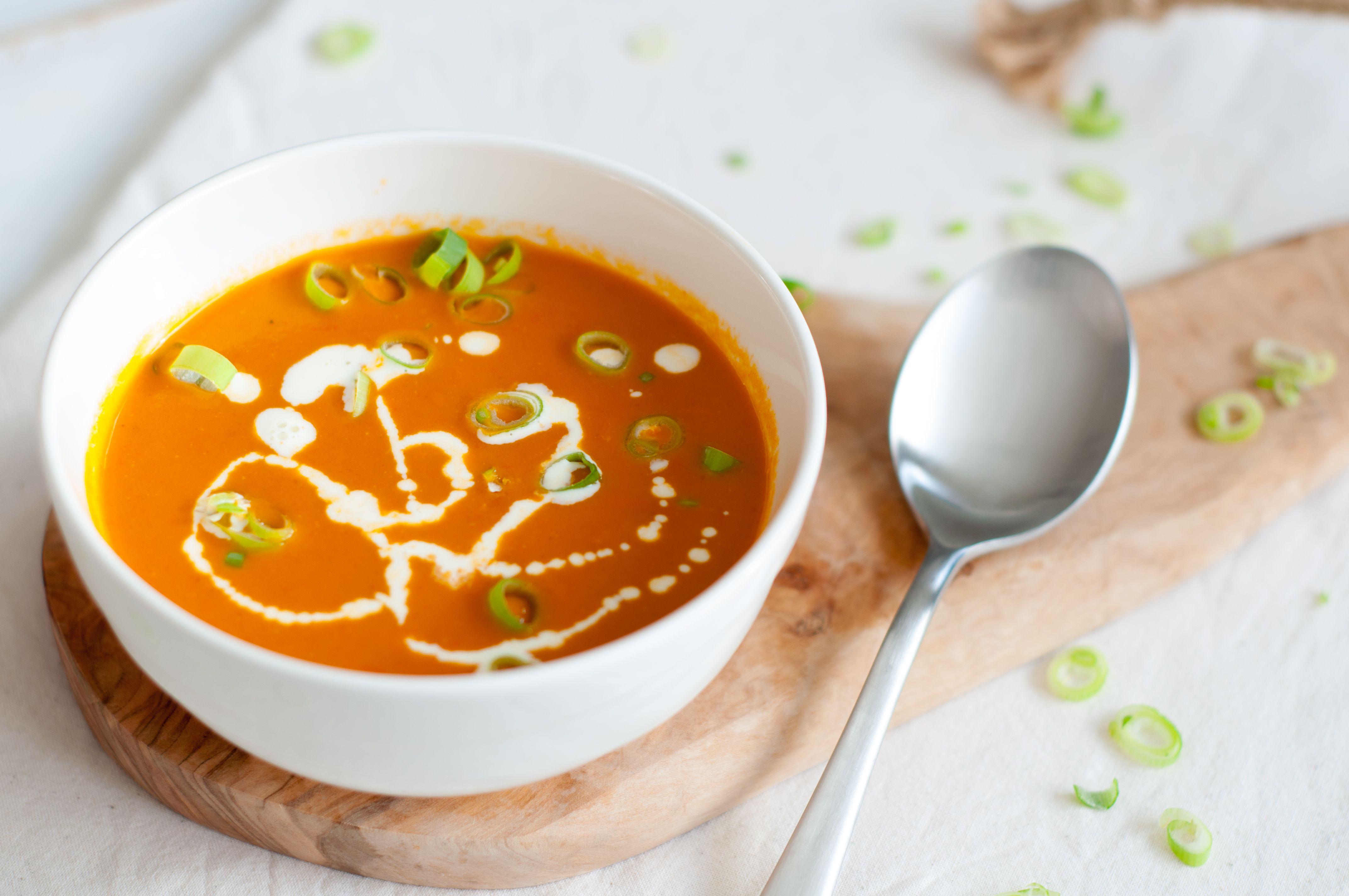 recept verse tomatensoep met room