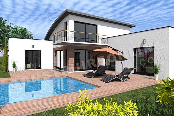maison toit arrondi bac acier AMPLITUDE 4 | Projet maison | Pinterest