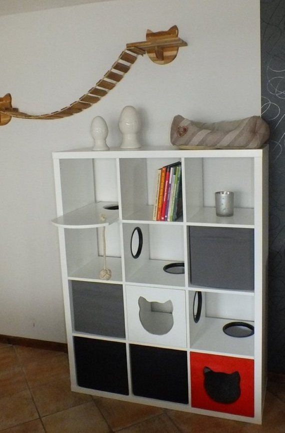 Cat Shelf Ignatz Ikea Hack Mit Bildern Ikea Ideen Ikea Regal