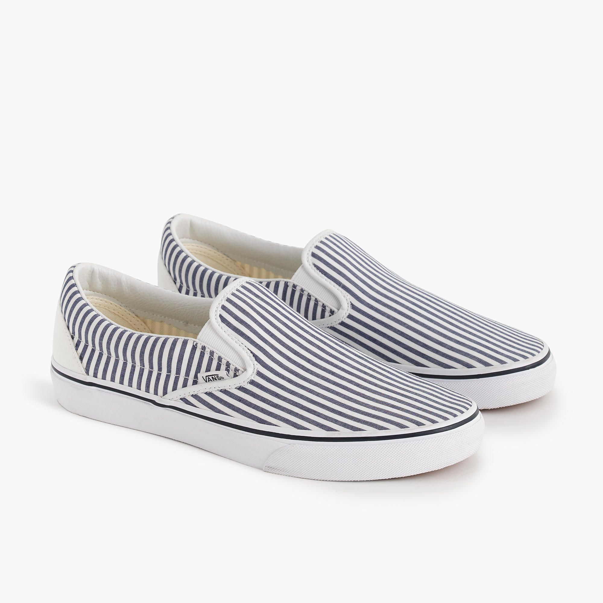 a91a572ca427b7 Vans® for J.Crew slip-on sneakers in seersucker stripe