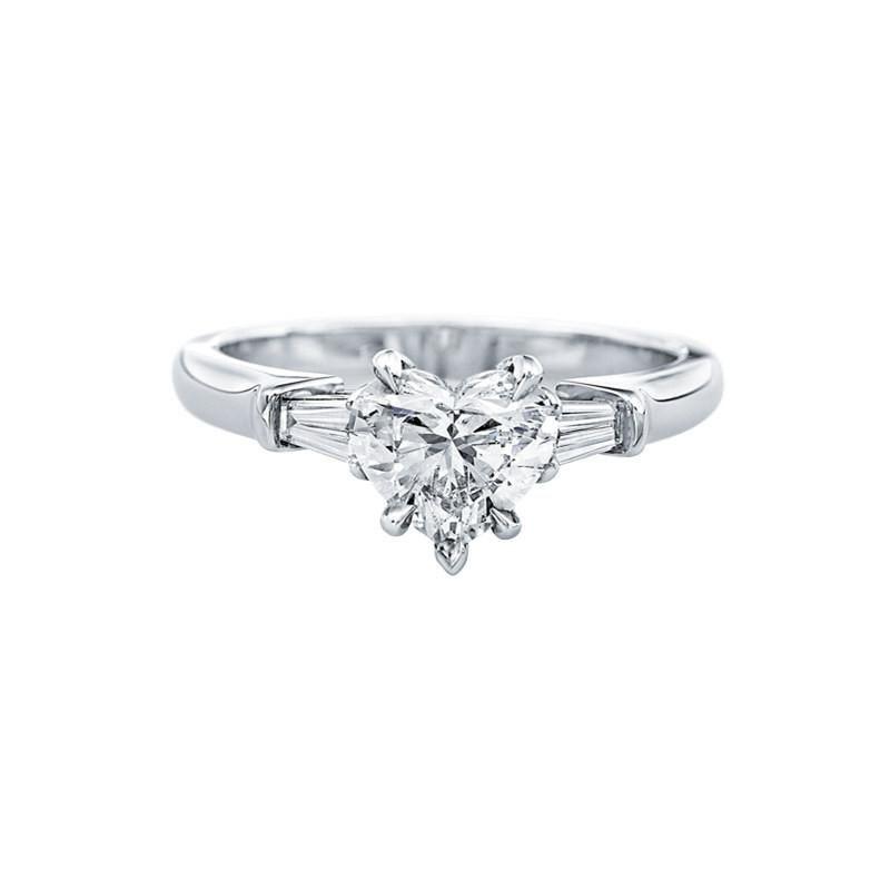 BODYA Jewelry Stunning Heart Shaped Diamond Cut Sona Diamond Solitaire Engagement Ring forever love promise ring d4KS0