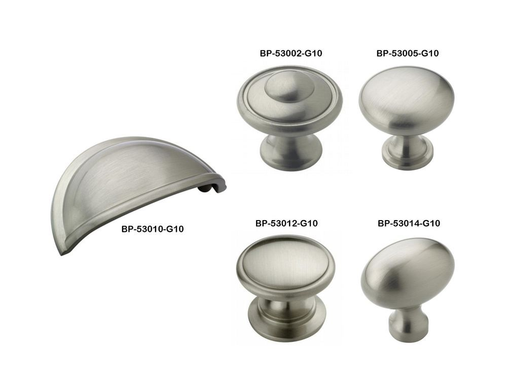 Amerock Satin Nickel Drawer Cabinet Hardware Knobs U0026 Bin Pulls