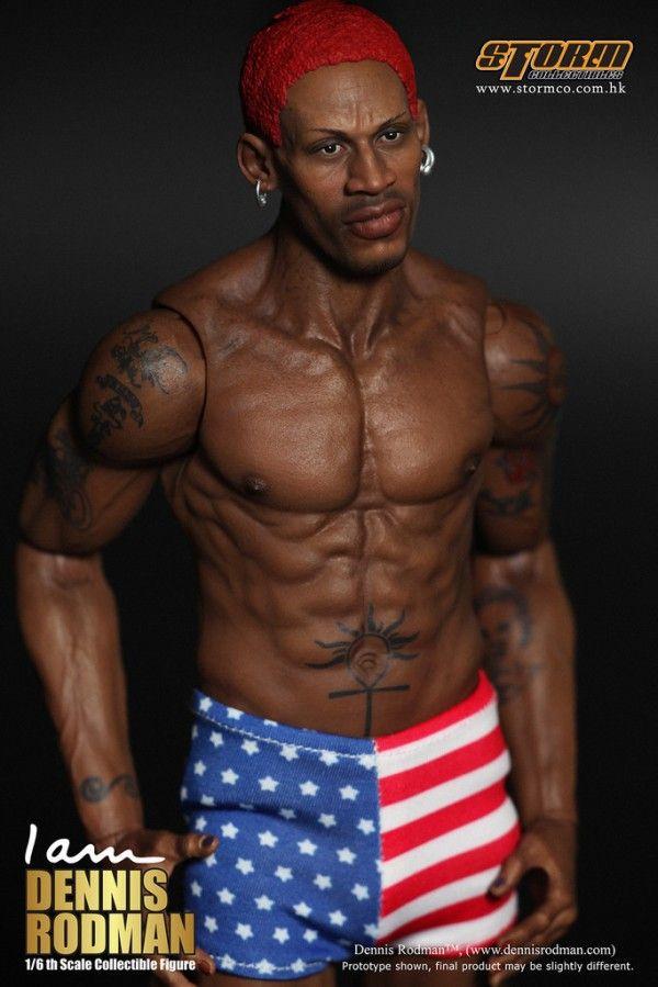 "ENTERBAY 1//6 Scale Dennis Rodman Tatto Muscle Body for 12/"" Figure"