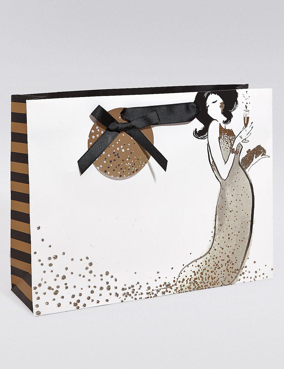 large black gold champagne bag paper bag pinterest bags