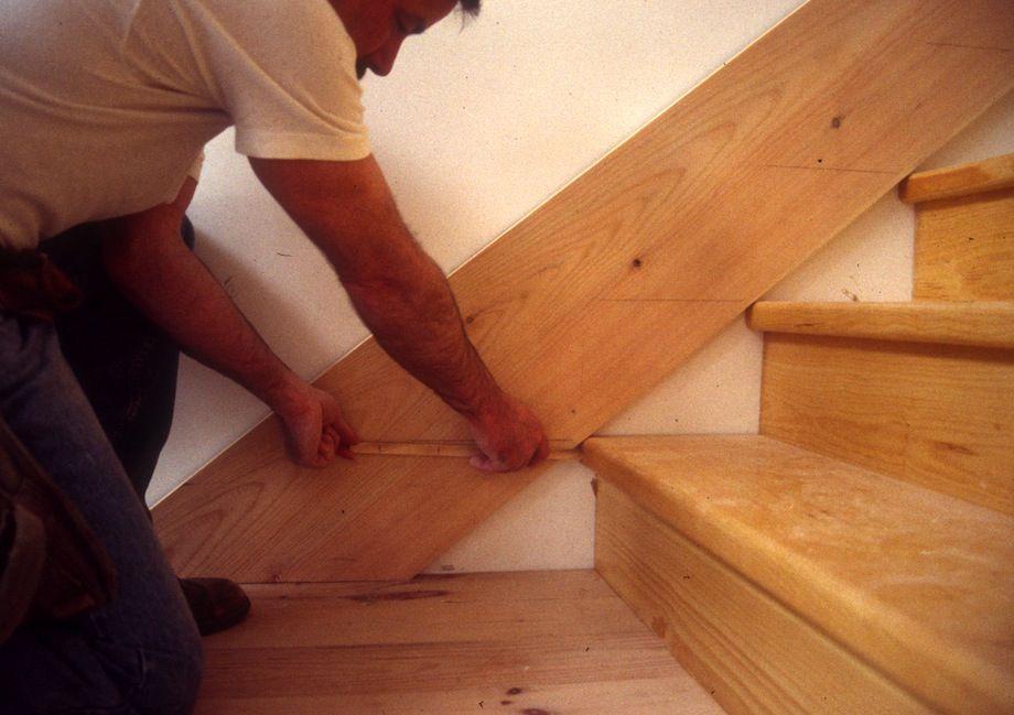 scribing stair skirt boards