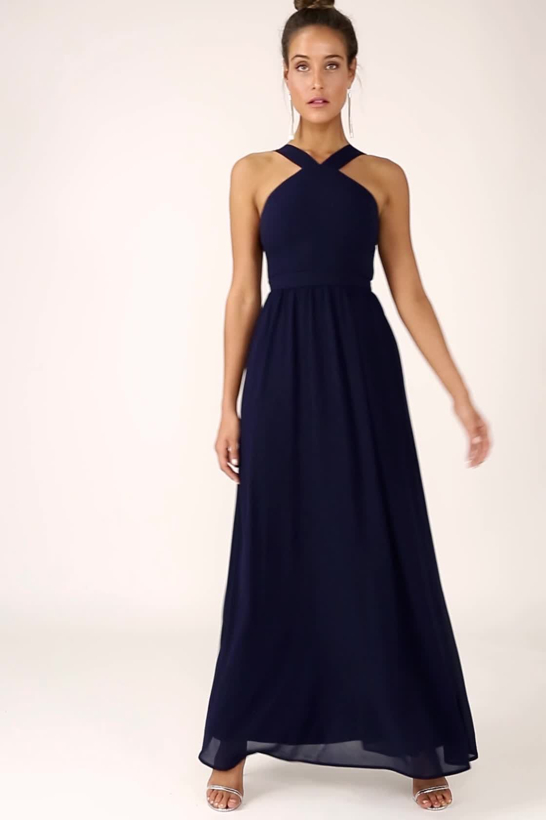 e7fdeb546f3 Beautiful Grey Dress - Maxi Dress - Halter Dress -  70.00