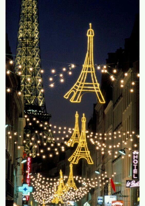 Eiffel garland lites France Pinterest France