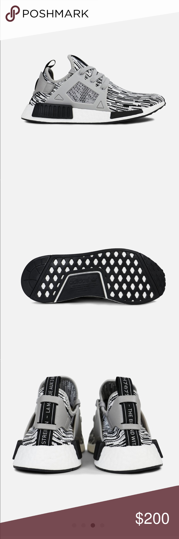 Adidas Uomo nmd nwt rx1 nero & gray nwt nmd pinterest 17e6e7