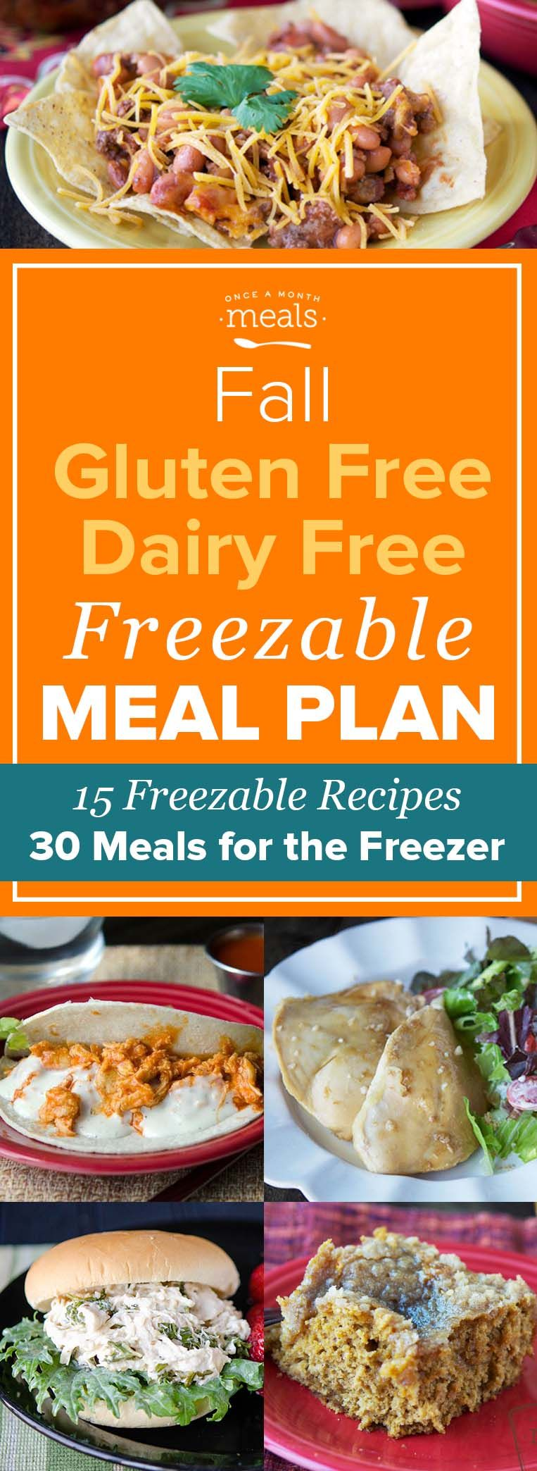 Our Fall Gluten Free Dairy Free Freezer Menu features