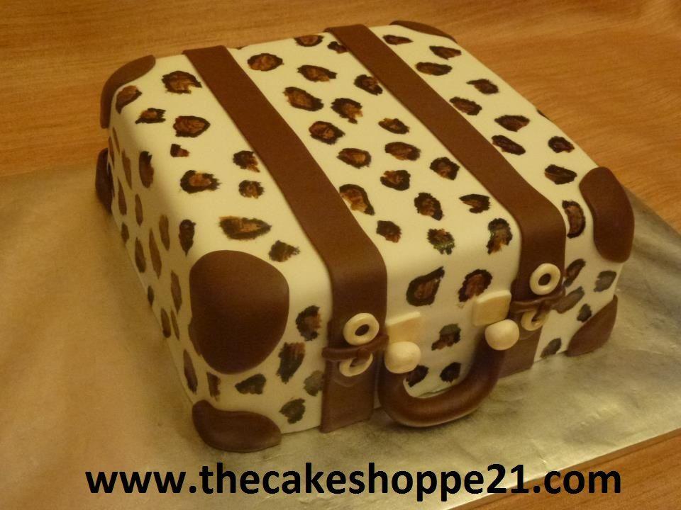 Leopard suitcase cake suitcase cake custom cakes