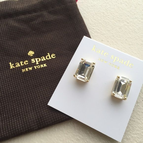 """Kate Spade Square Stone Studs condition: new with tags retail: $38 plus tax   details: - .5"""" length - will come with jewelry pouch.   offers always welcome!  bundle to save the most.  no trades. ask ?s. happy poshing! kate spade Jewelry Earrings"""