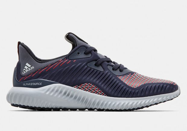 adidas AlphaBOUNCE Stripes Rouge Navy Rouge Stripes Blanc Chaussures 72c01e
