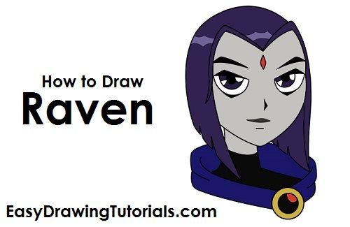 How to draw raven from teen titans topic Completely