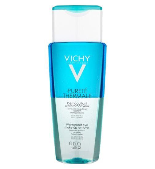 Vichy Purete Thermale Waterproof Eye Make Up Remover For Sensitive Eyes 150ml Waterproof Eye Makeup Remover Eye Make Up Remover Makeup Remover