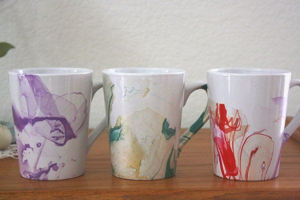 Watercolor Coffee Mugs Diy Mugs Diy Tableware Christmas Craft