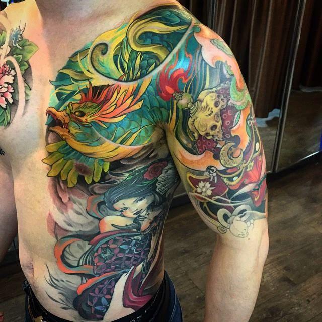 Chronic Ink Tattoos Toronto Tattoo Shop: Toronto Tattoo Chest, Ribs And Half