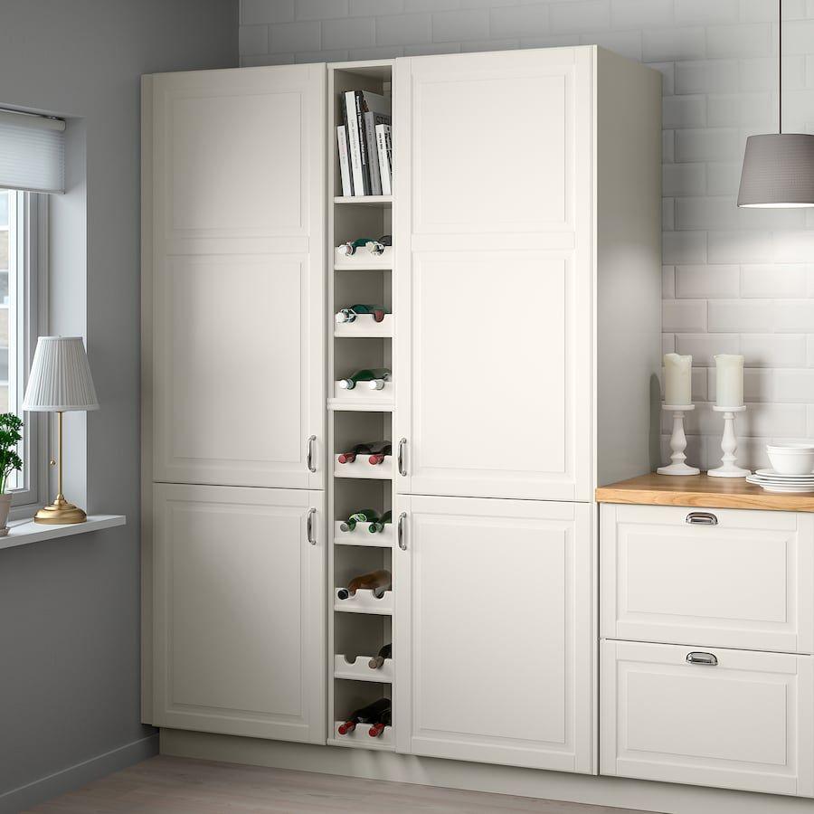 Tornviken Open Cabinet Off White Width 9 Depth 24 3 4 Buy Online Or In Store Ikea In 2020 Minimalist Kitchen Open Cabinets Kitchen Design Open