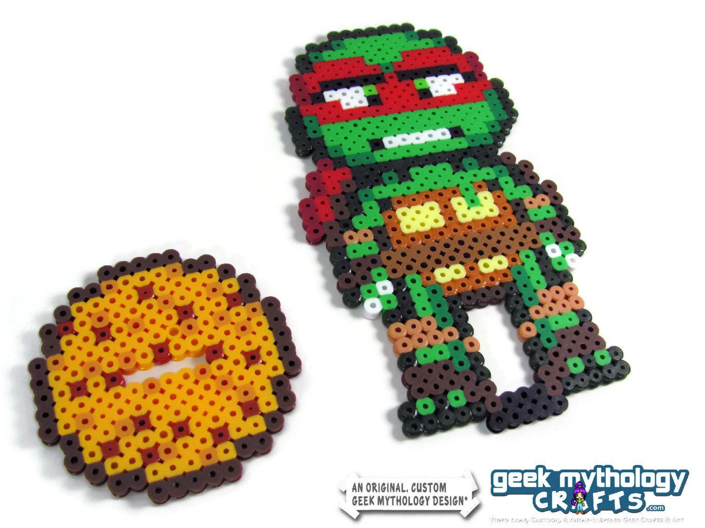 Ninja Turtles TMNT 2012 Nickelodeon Perler Bead Sprite Pixel Art Character  Figures By GeekMythologyCrafts