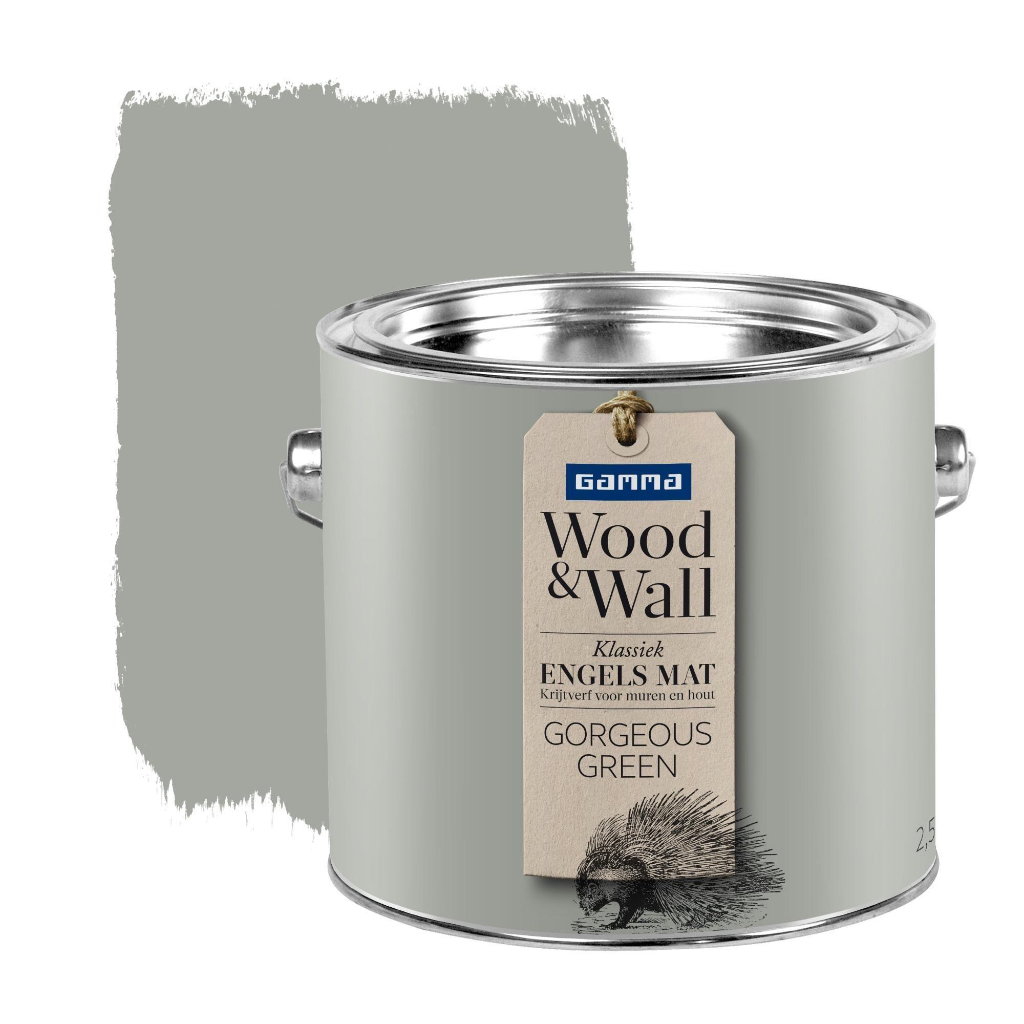 Gamma Wood&Wall Green Houten muur, Krijtverf