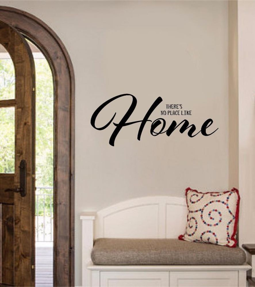 Thereu0027s No Place Like Home Vinyl Decal Wall Sticker Words Lettering Entryway Art & Thereu0027s No Place Like Home Vinyl Decal Wall Sticker Words Lettering ...