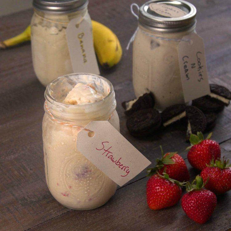 Easy Mason Jar Ice Cream 3 Ways