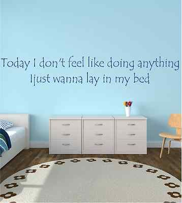 Wall Sticker Bruno Mars Lazy Song Lyrics Quote Mural Art Decoration Home Q13 Style Lyrics Song Lyric Quotes My Home Design