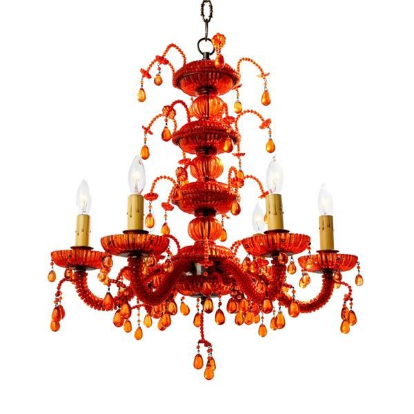 Droplet red chandelier from Canopy Designs | Light Up Your Life ...