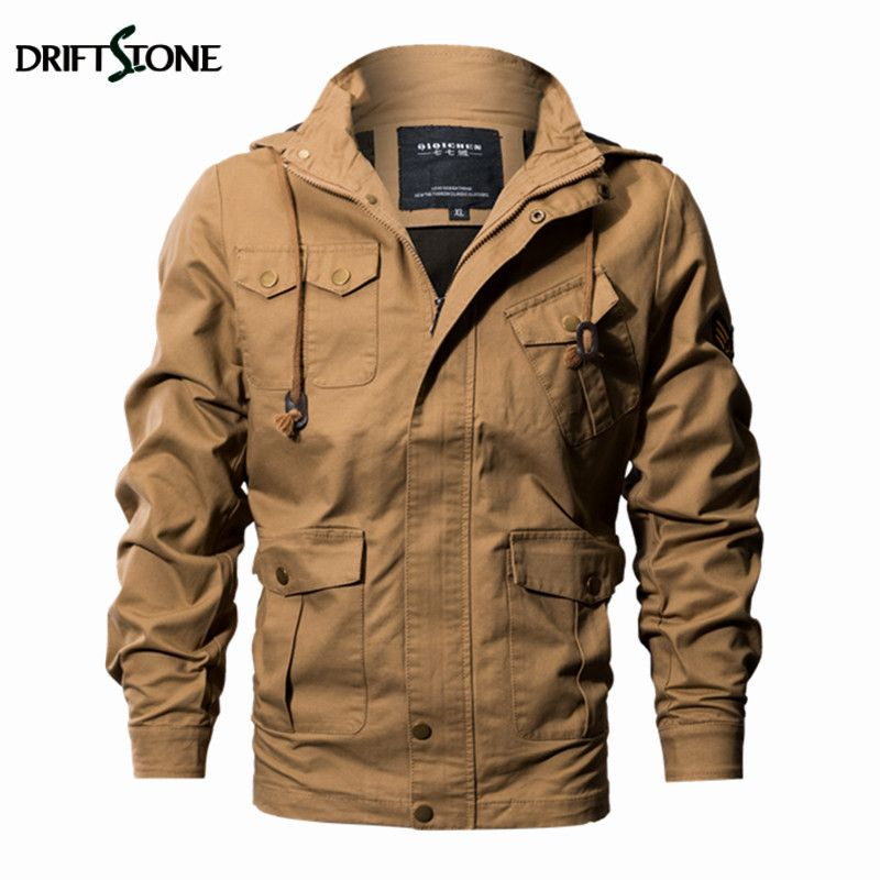 d68b050a546 Military Tactical Jacket Men Plus Size Windproof Hooded Air Force Pilot Jackets  Autumn Winter Man Coat Army Clothing 6XL 3 Color.