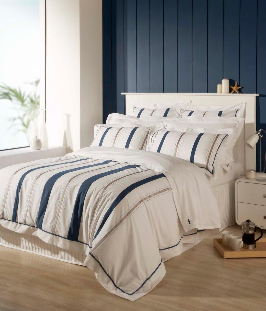 Nautical Bedding King: Details About Christy Coastal Stripe Bedding, Nautical 200