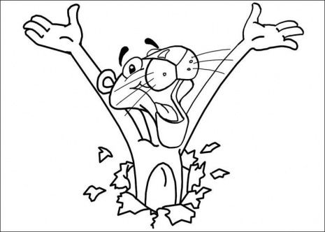 Pink Panther Coloring Pages Pink Panthers Coloring Pages For