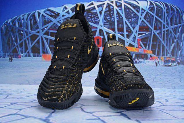 d864f27ff3a Nike LeBron 16 EP Black Gold AO2588 052 Men s Basketball Shoes James Shoes