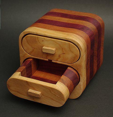 Wood Band Saw Box ~ Bandsaw jewelry box by rskura via flickr crafting