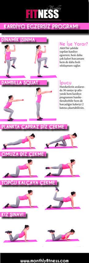 KALORİ HARCAMAK İÇİN: KARDİYO - Monthly Fitness - #Fitness #HARCAMAK #için #KALORİ #KARDİYO #Monthly