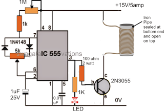 Small Induction Heater Circuit for School Project | Electronics ...