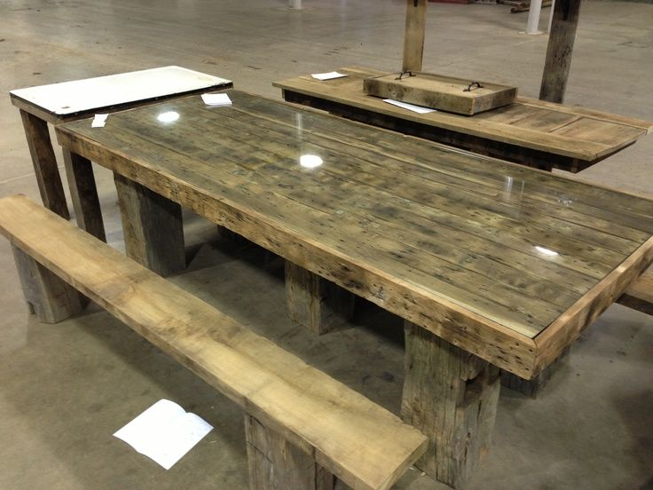 Old Barn Wood Picnic Table Good Idea To Put The Glass On Top! Description  From