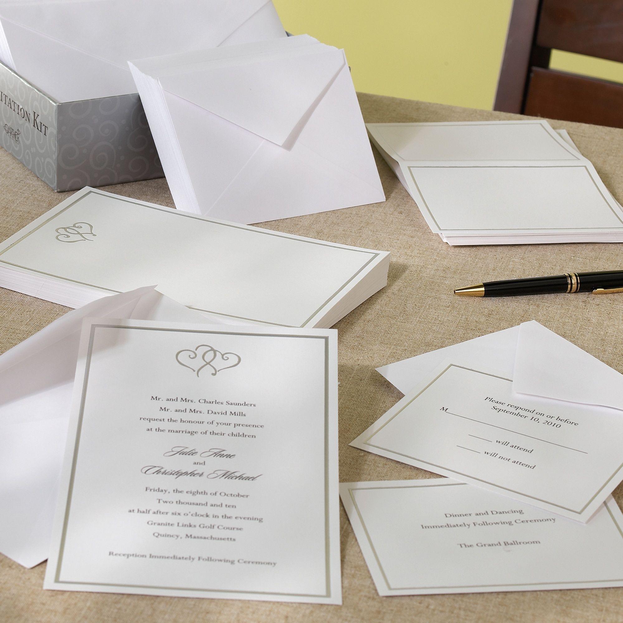 Platinum Hearts DIY Wedding Invitation | #exclusivelyweddings ...