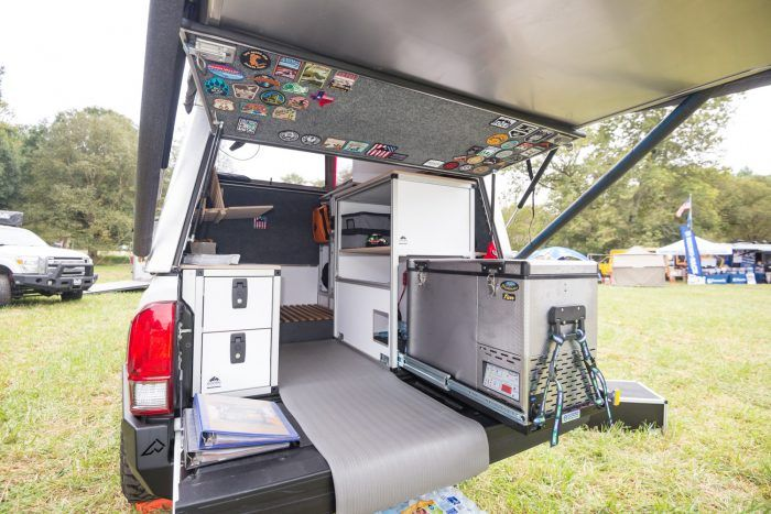 Pickup Topper Becomes Livable Pop Top Habitat Vehicle