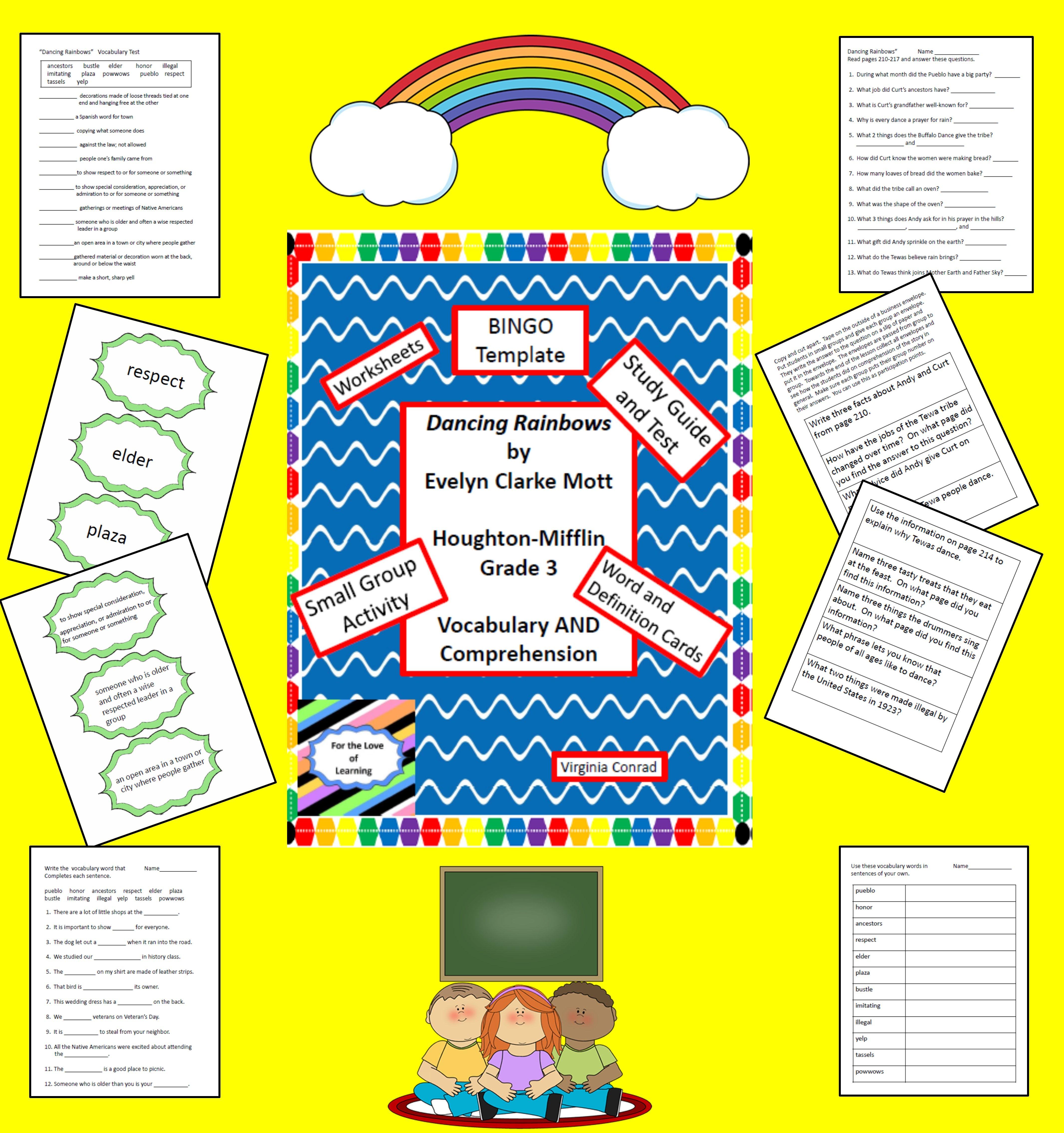Supplemental Vocab And Comprehension Materials For Dancing Rainbows Grade 3 Houghton Mifflin Vocab Mifflin Study Guide Template [ 4541 x 4262 Pixel ]