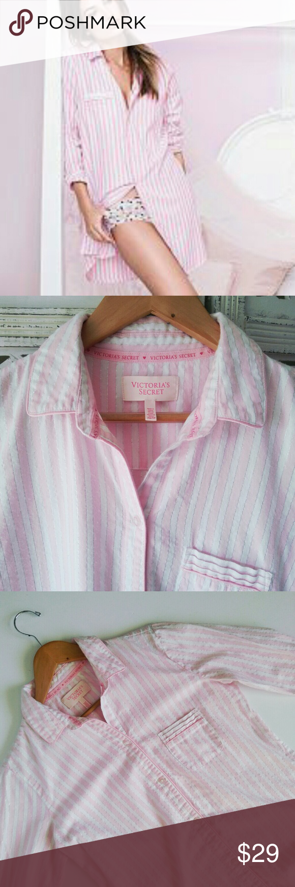 56bf9c3d5de13 Victoria's Secret | flannel sleep shirt Victoria's Secret flannel ...