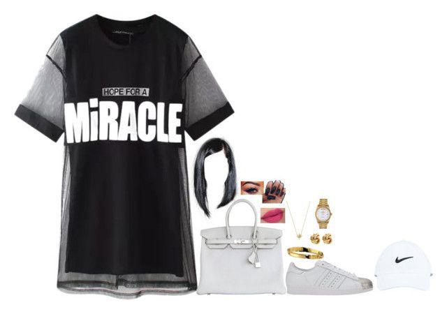 """Past 12"" by princess-kiana ❤ liked on Polyvore featuring Chicnova Fashion, Hermès, adidas, NIKE, Chanel, Rolex, women's clothing, women, female and woman"