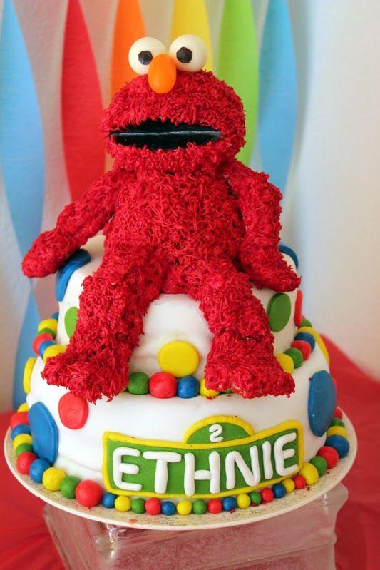 Get Your Craft On Elmos World Birthday Elmo cake fondant sesame