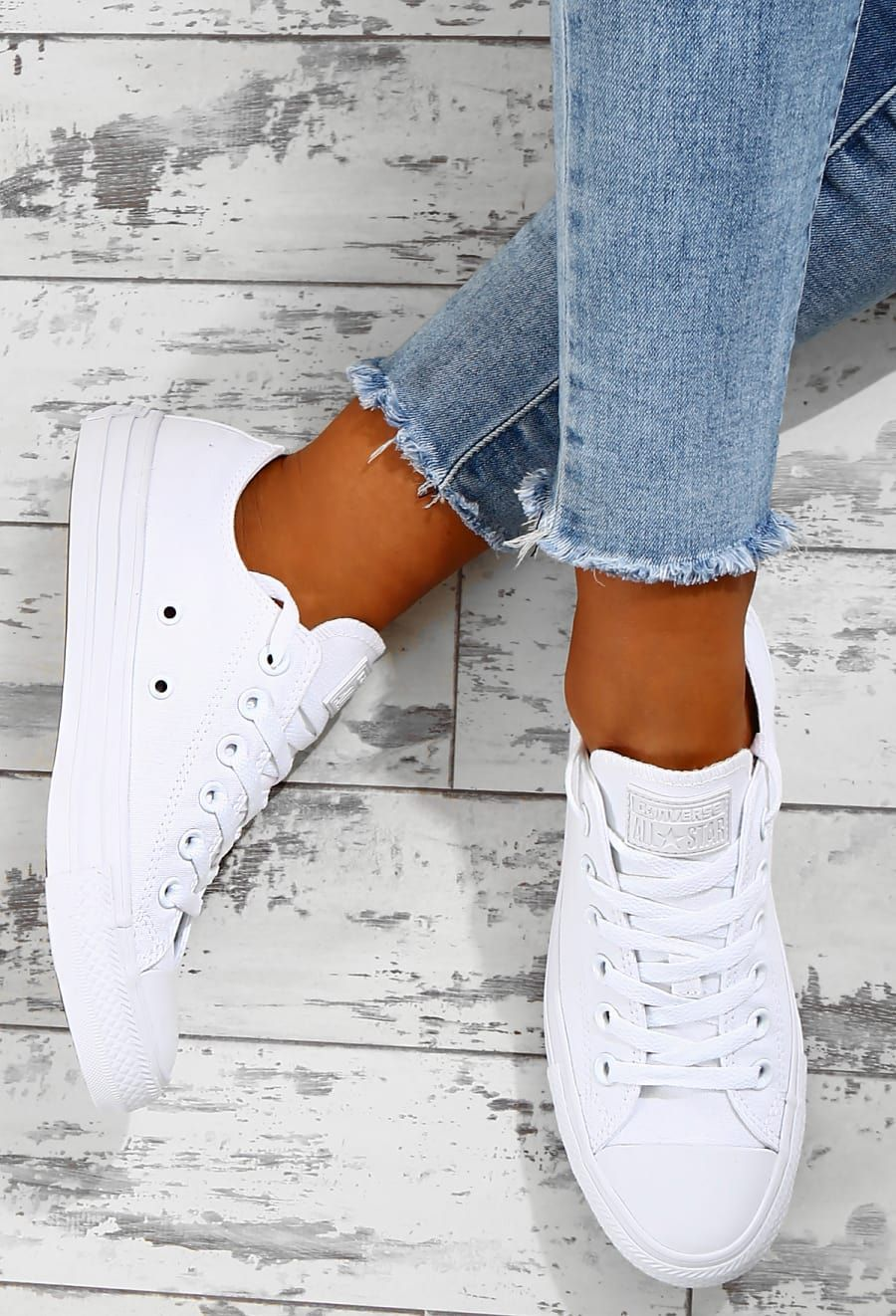 Chuck Taylor Converse All Star All White Trainers | Dámská