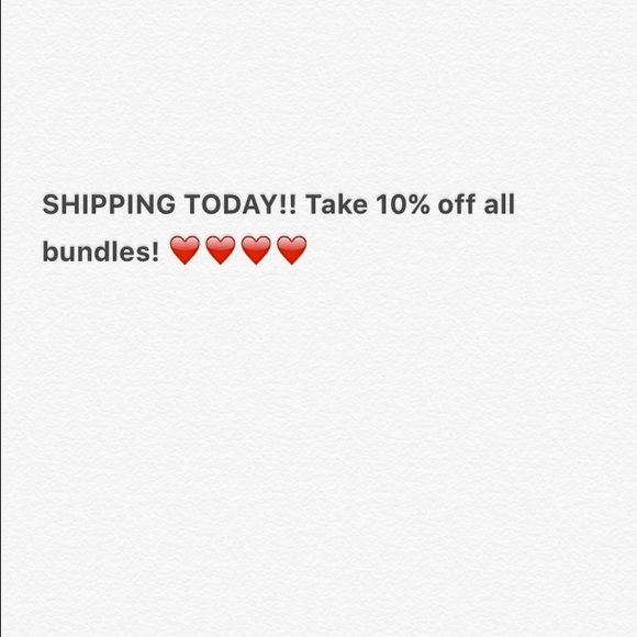Shipping today!!! Take 10% off all bundles of 2 or more and 20% off 3 or more Other
