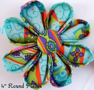 Fabric Flowers Tutorial Site by MakeBowsandMore.com: Kanzashi Petal Fabric Flower