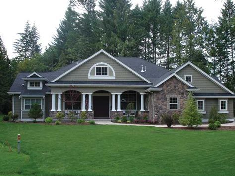 Charming and spacious 4 bedroom Craftsman style home. Craftsman House Plan # 551269. #craftsmanstylehomes