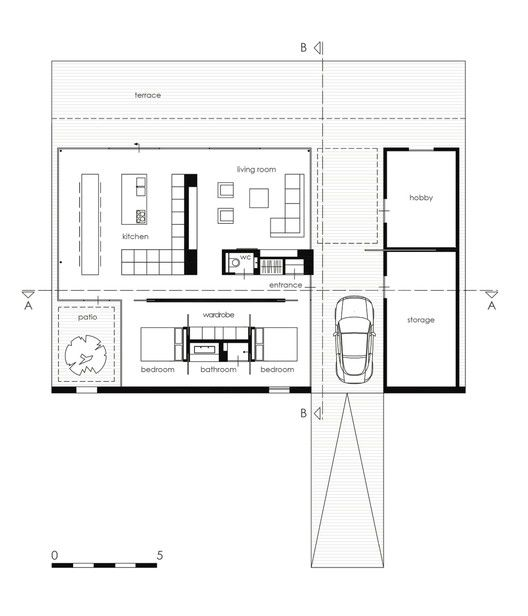 Residência SR,Planta Baixa
