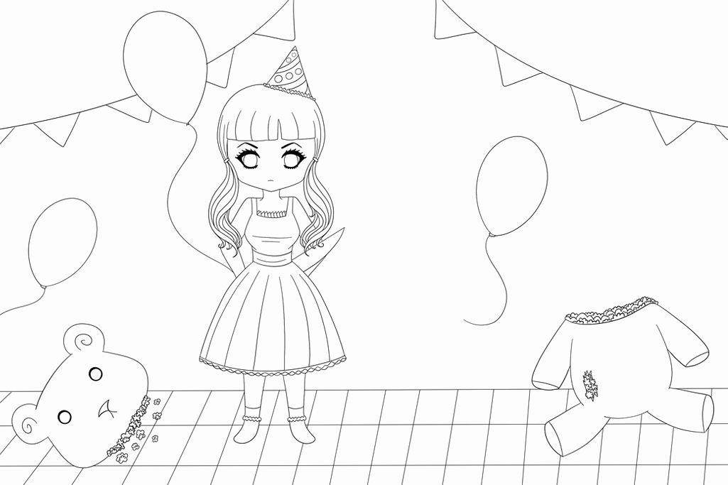 Melanie Martinez Coloring Page Elegant Melanie Martinez Pity Party Lineart  By Deviru… In 2020 Melanie Martinez Coloring Book, Coloring Books, Millie  Marotta Coloring Book