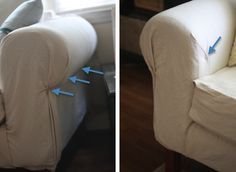 Dropcloth No Sew Slipcover Need Upholstery Pins Dropcloth Fabric Scissors Sofa Recovering Drop Cloth No Sew Slipcover